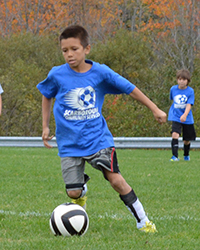 Carlo Playing Soccer Fall 2013 a