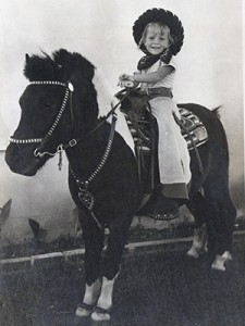 Little Girl And Her Pony a